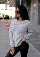 Свободный женский свитер на зиму 2020