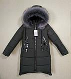 Модное подростковое зимнее пальто для девочек, фото 2