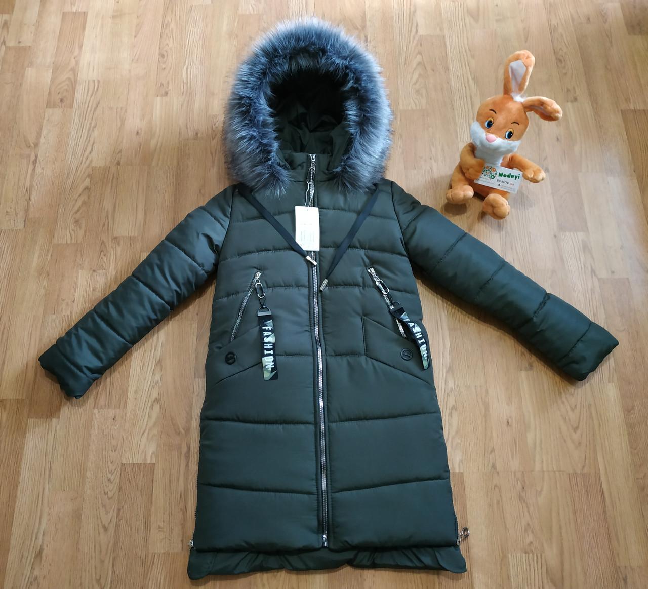 Модное подростковое зимнее пальто для девочек