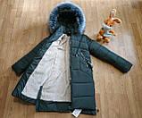 Модное подростковое зимнее пальто для девочек, фото 7