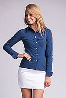 Стильная женская рубашка на пуговицах