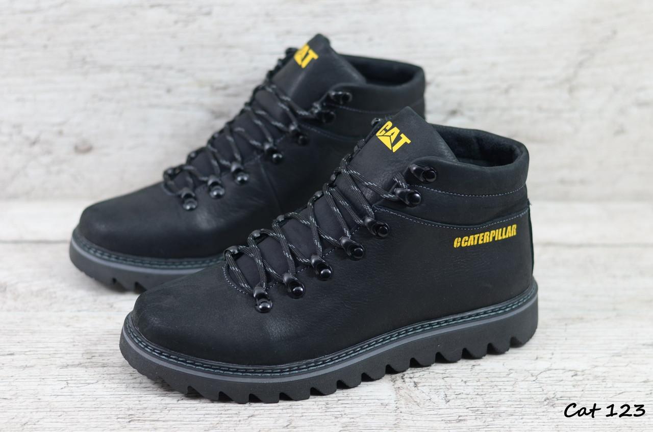 Мужские кожаные зимние ботинки Caterpillar (Реплика) (Код:  Cat 123  ) ►Размеры [40,41,42,43,44,45]