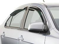 Ветровики Peugeot 407 2004-  передние дефлекторы окон HEKO 26121
