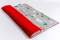 Плед детский плюшевый BabySoon Рождественская сказка Размер 75 х 85 см (0291)