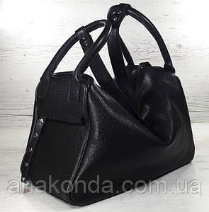 142 Натуральная кожа, объемная сумка-трансформер женская спортивная сумка кожаная дорожная черная сумка черная