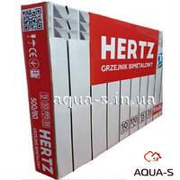 Радиатор биметаллический HERTZ 500/80 для центрального отопления (35 бар) 10 секций (Польша)
