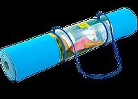 Коврик для фитнеса и йоги 1,73*0,61*6мм ZELART Yoga Mat нескользящий двухсторонний, фото 1