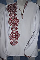 """Чоловіча сорочка вишиванка """"Монохром бордо"""", фото 1"""