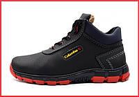 Мужские ботинки черевики на червоній підошві