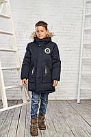 Теплая зимняя куртка на мальчика 11-16 лет.
