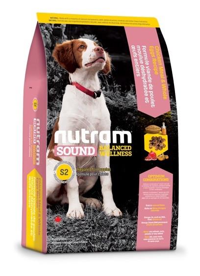 Сухой корм Nutram S2 Sound Balanced Wellness Puppy для щенков мелких и средних пород 13,6 кг