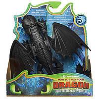 Коллекционная фигурка Toothless Dragons Как приручить дракона Беззубик 18 см с механической функцией
