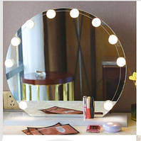 Лампы для гримерного зеркала макияжа Набор лампочек (10 шт.) светодиодных LED с регулировкой яркости Подсветка