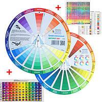Цветовой круг ПРОФЕССИОНАЛЬНЫЙ дизайнерский для сочетания цветов 23см.