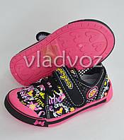 Сменная обувь мокасины для девочки Super Gear чёрный 28р.