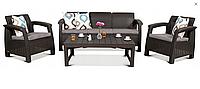 Набор садовой мебели Corfu Set Max Lyon Brown ( коричневый ) из искусственного ротанга, фото 1