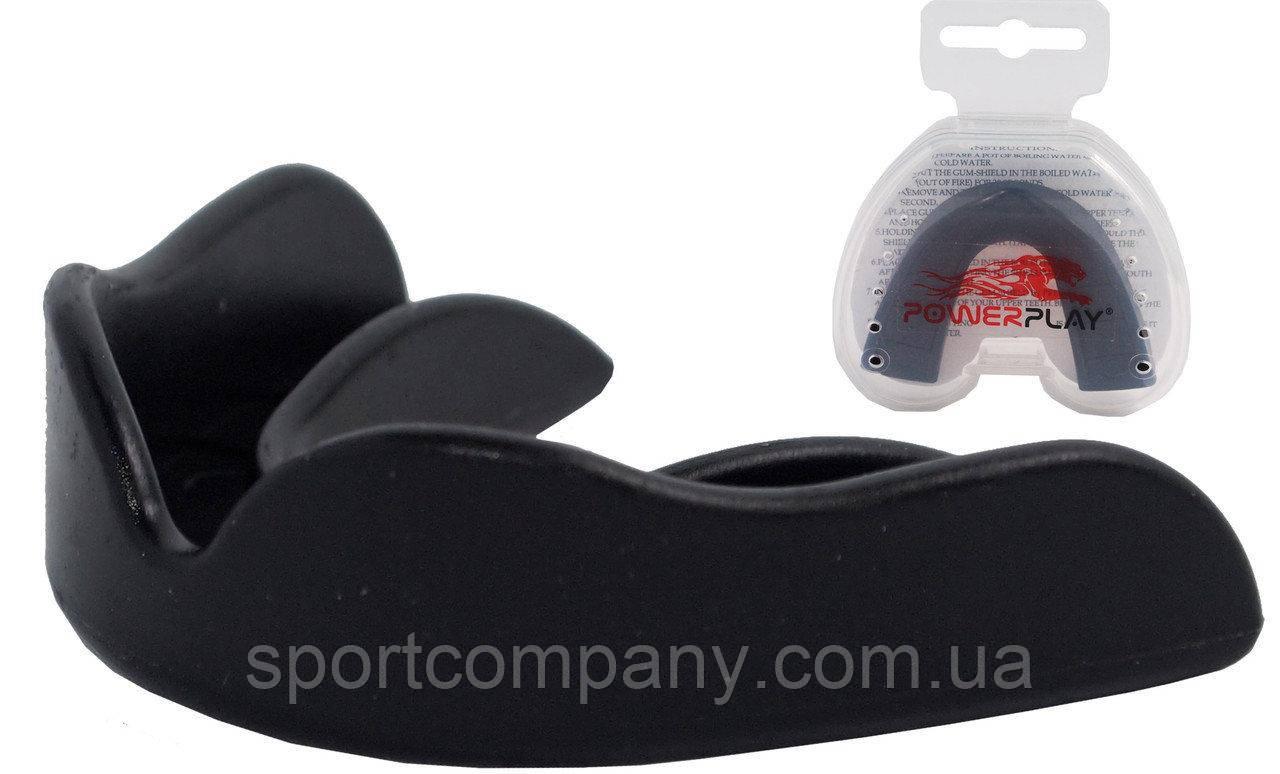 Капа боксерская Power Play 3308 (детская, черная)