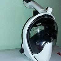 Маска для плавания панорамная Free Breath L/XL, белая