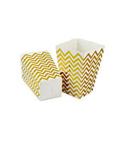 """Коробочки для сладостей """"Зигзаг золото"""" 7х5х11,5 см (6 штук)"""