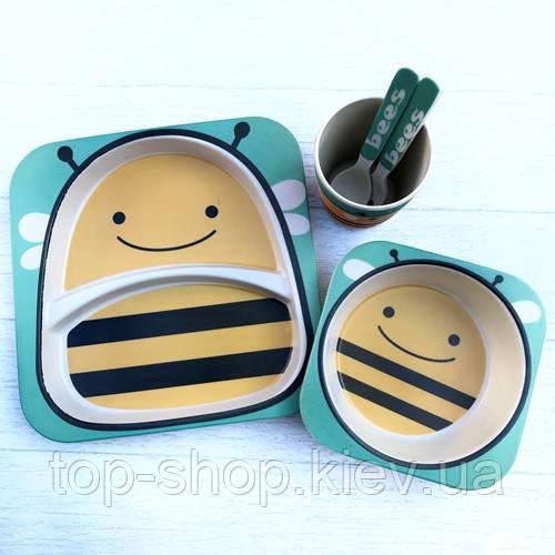 Набор бамбуковой посуды для детей бджола