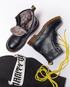 Ботинки Dr.MartensClassic (Черные)   Натуральная Кожа и Мех Женские размер 36-40