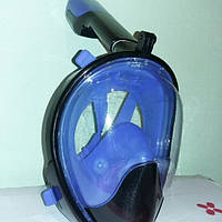 Маска для плавания панорамная Free Breath L/XL, синяя