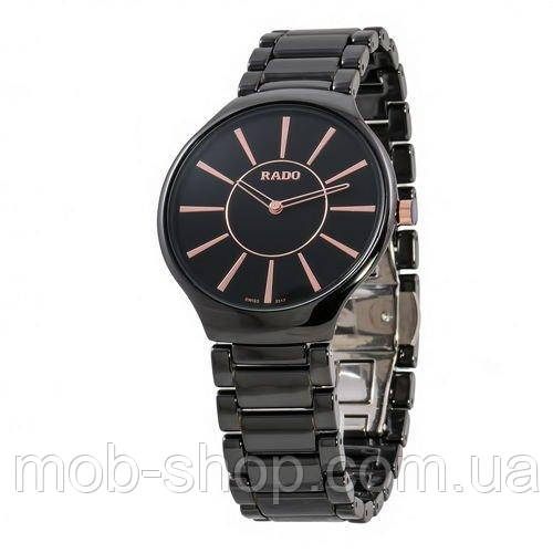 Наручные часы Rado True Thinline Ceramic Black-Gold