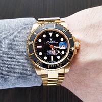 Наручные часы Rolex Submariner AAA Date Gold-Black, фото 3