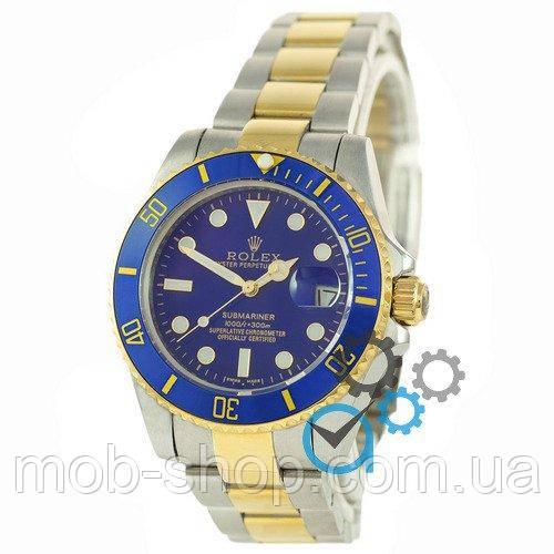 Наручные часы Rolex Submariner AAA Date Silver-Gold-Blue