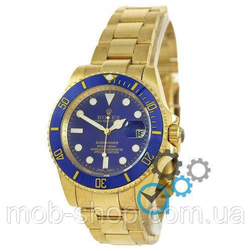 Наручные часы Rolex Submariner AAA Date Gold-Blue