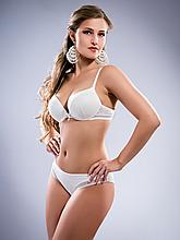 Комплект женского нижнего белья Acousma A6358-2D-P6358H, цвет Молочный, размер 85D-XL