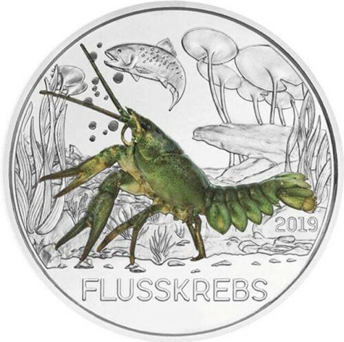 Австрия 3 евро 2019 г. Рак , UNC.