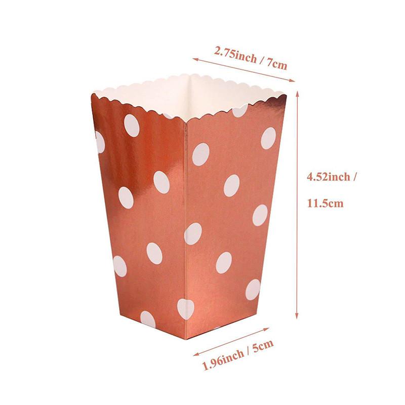 """Коробочки для сладостей """"Горох розовое золото"""" 7х5х11,5 см (6 штук)"""