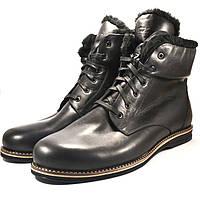 Большой размер зимние ботинки мужские кожаные Rosso Avangard BS Night POLY Whisper Black черные, фото 1