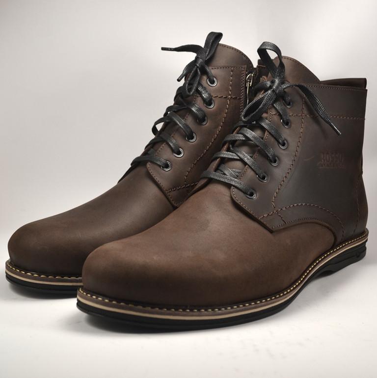 Большого размера ботинки коричневые мужские зимние кожаные Rosso Avangard Falconi Comfort Umber Brown BS
