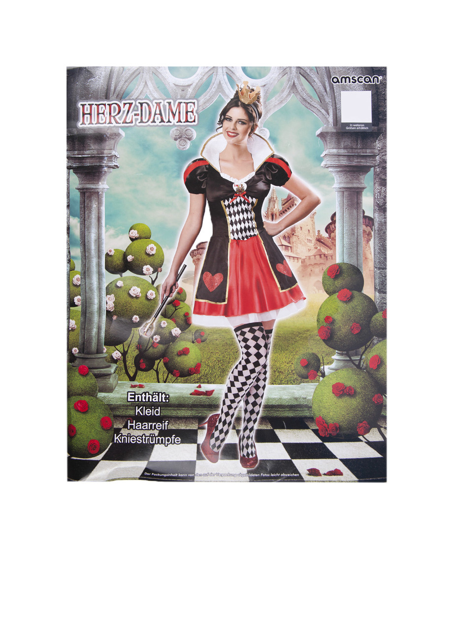 Женский костюм карточной королевы S/M