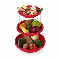 Складная подставка миска для чипсов и фруктов Twistfold Party Bow (красная)