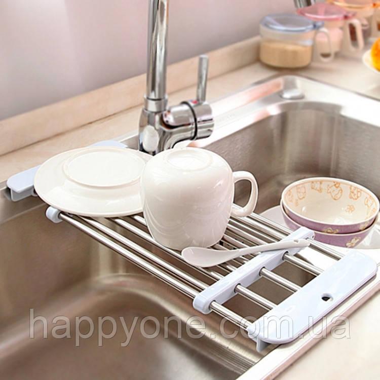 Раздвижная сушка для посуды на мойку