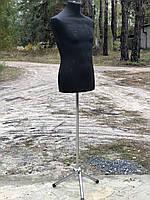 Мужской манекен торс пенопластовый на ножке, фото 1