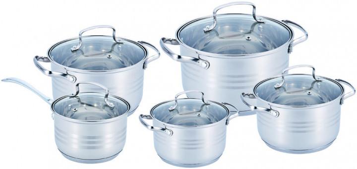 Набір посуду Benson BN-203 з нержавіючої сталі 10 предметів