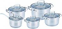Набор посуды Benson BN-203 из нержавеющей стали 10 предметов