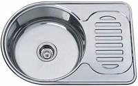 Врезная кухонная мойка Platinum 67*45 (мм) в покрытии decor (структурная), с толщиной 0,8 (мм), фото 1