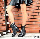 Женские демисезонные ботинки черного цвета, натуральная кожа 40 ПОСЛЕДНИЙ РАЗМЕР, фото 4