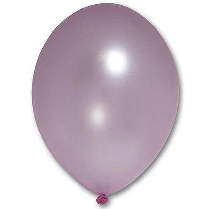 Повітряні кулі світло рожеві металік 30 см BelBal Бельгія 5 шт