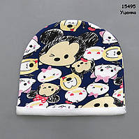 Утепленная шапка для девочки. 50-52 см