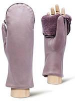 Італійські жіночі рукавиці шкіряні з хутром в 4 кольорах IS129