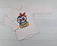 Детский вязаный свитер на девочку 1,2,3 года (полномерный) 5489616630386