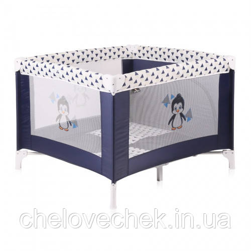Манеж Bertoni Play Station (blue/white penguin)