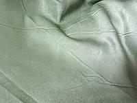 Шторная ткань двухстороння зеленого цвета шириной 1,4 метра