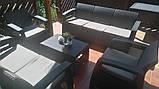 Набор садовой мебели Corfu Set Triple Max Graphite ( графит ) из искусственного ротанга ( Allibert by Keter ), фото 6